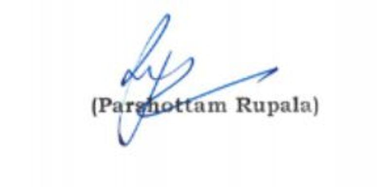 Parshottam Rupala's Signature