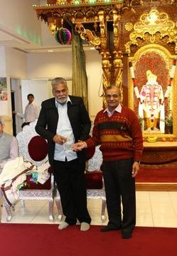 Parshottam Rupala at Shree Swaminarayan Temple in New Jersey