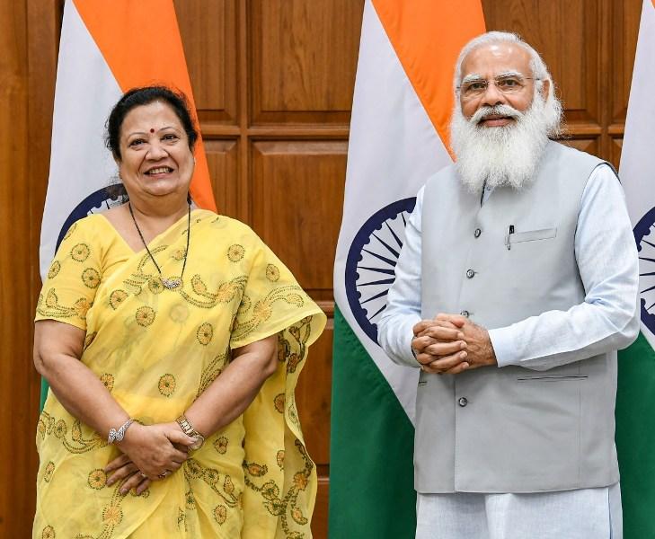 Darshana Jardosh with Indian Prime Minister Narendra Modi
