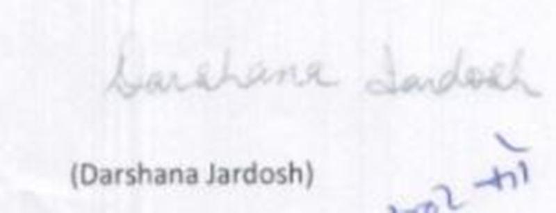 Darshana Jardosh's Signature
