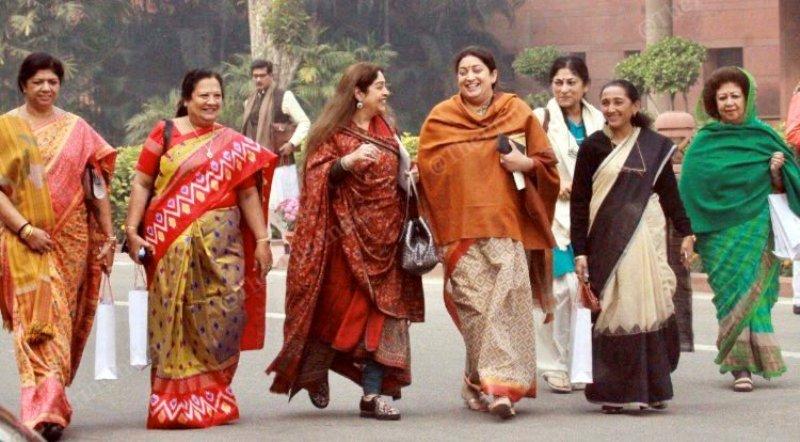 Darshana Jardosh with other Bharatiya Janata Party's female MPs