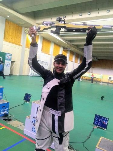 Divyansh Singh Panwar at the ISSF World Cup 2019