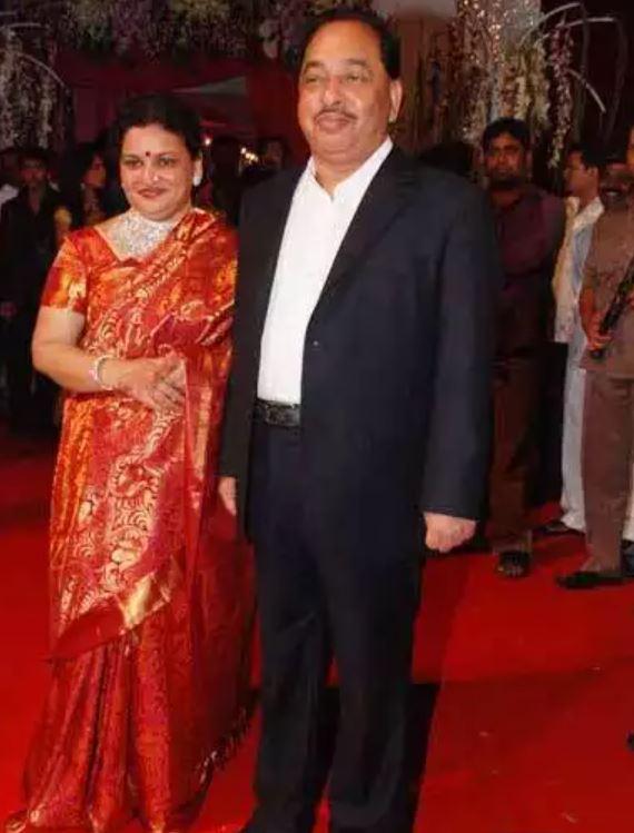 Narayan Rane with his wife