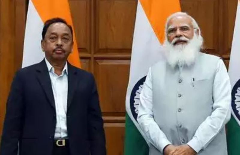 Narayan Rane with Prime Minister Narendra Modi