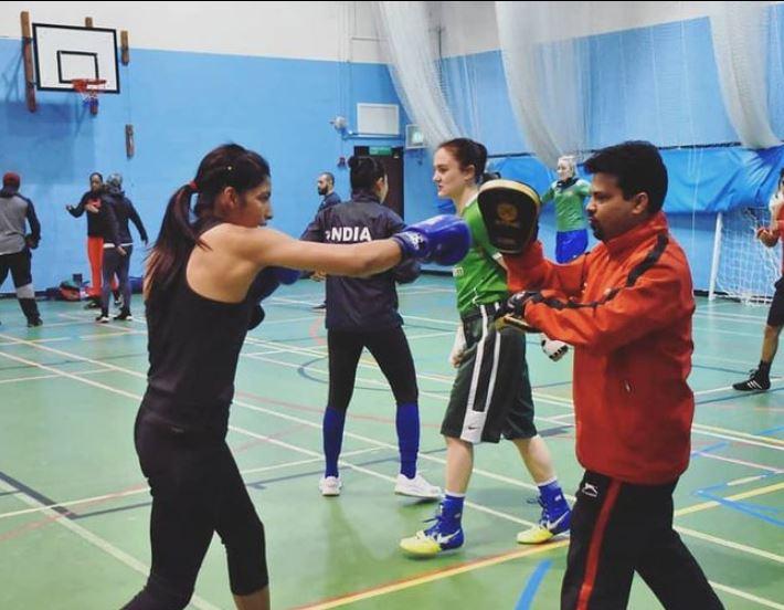 Simranjit Kaur during her training session