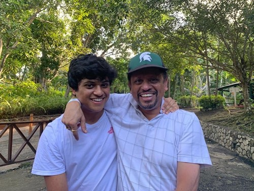 Vaidehi Dongre's father, and her brother, Vineet Dongre