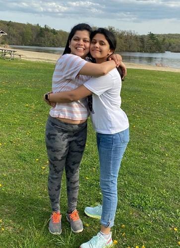 Vaidehi Dongre with her sister, Manasi Gadgil