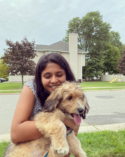 Vaidehi Dongre with her dog