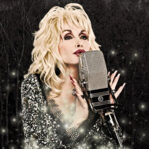 Dolly Parton Old PIc In Black And White