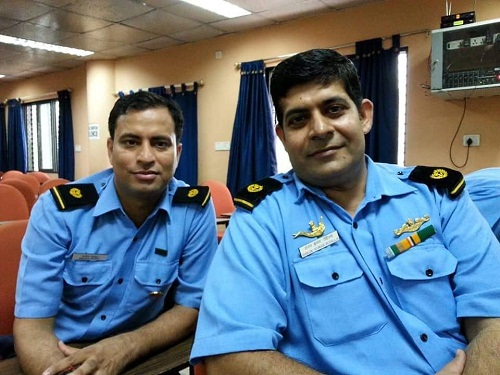 Sanjeev Rajput while he was in the Indian Navy
