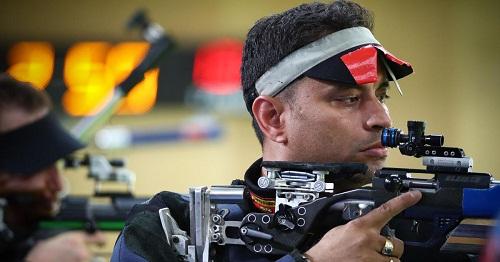 Sanjeev Rajput during his shooting match