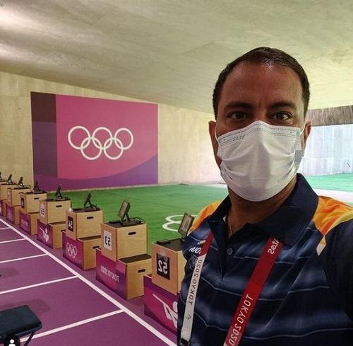 Sanjeev Rajput at the Tokyo Olympics 2020