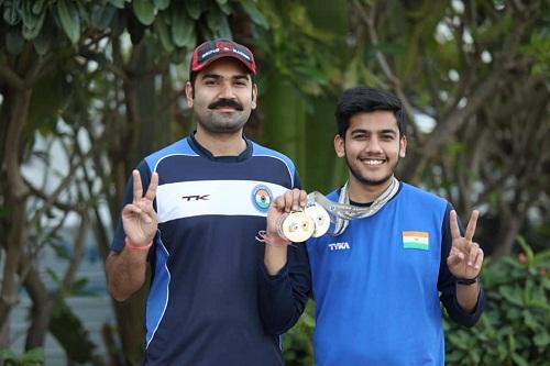 Aishwary Pratap Singh Tomar with his cousin Navdeep Singh Rathore