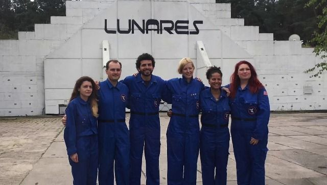 Sian Proctor with her team member during LunAres SPECTRA Mission 2018