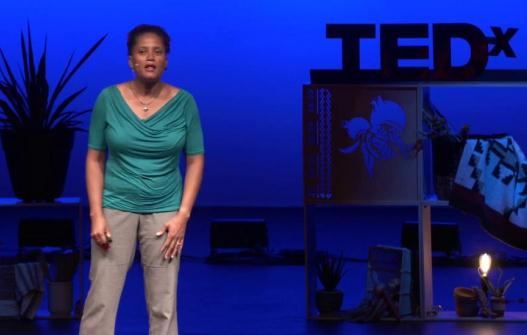 Sian Proctor during a TEDx conference