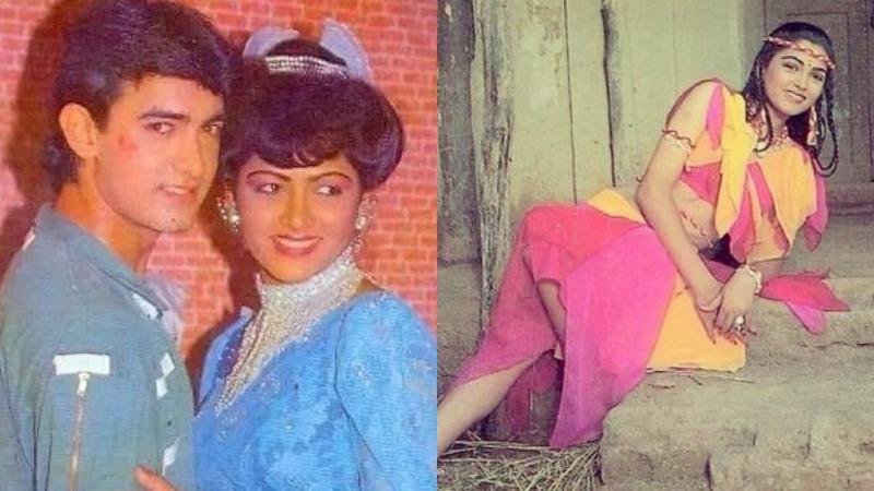 Khushbu Sundar with Aamir Khan in the movie Deewana Mujh Sa Nahin