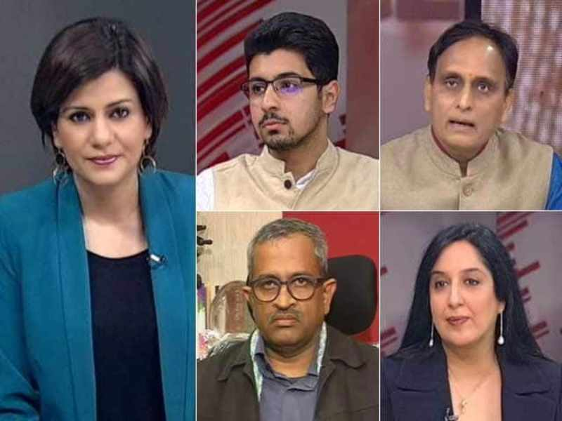 Swati Chaturvedi on the debate panel of NDTV news channel