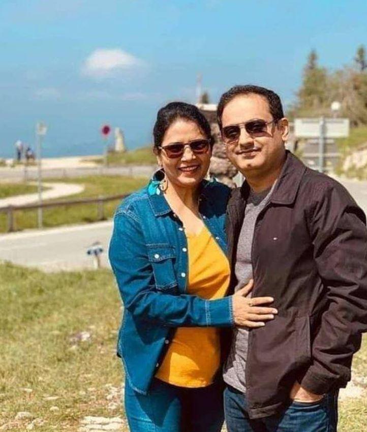 Dr Vikas Divyakirti with his wife