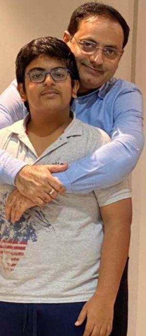 Dr Vikas Divyakirti with his son