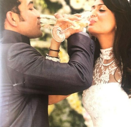 Shakeel Ladak's wedding picture