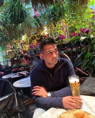 Shakeel Ladak in a restaurant