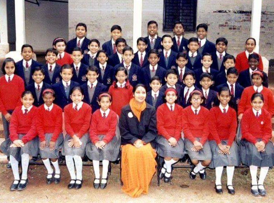 Atish Mathur in his school days