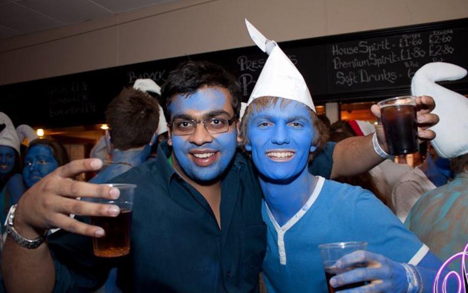 Atish Mathur at a bar