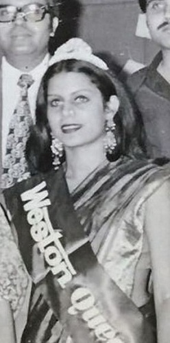 Celina Jaitly's mother in a beauty pageant