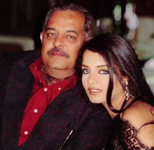 Celina Jaitly with her father