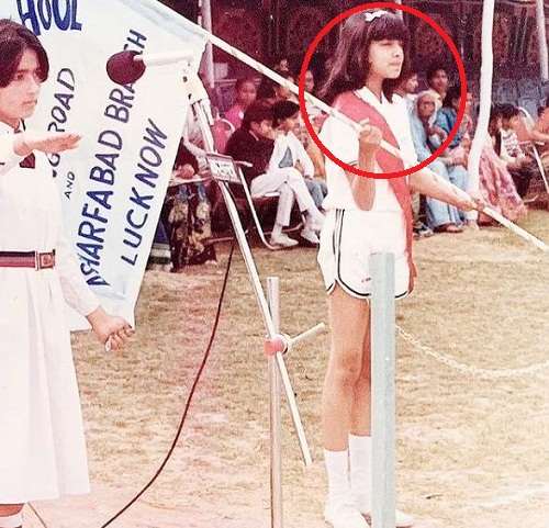 Celina Jaitly during her school days