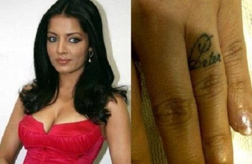 Celina Jaitly's tattoo
