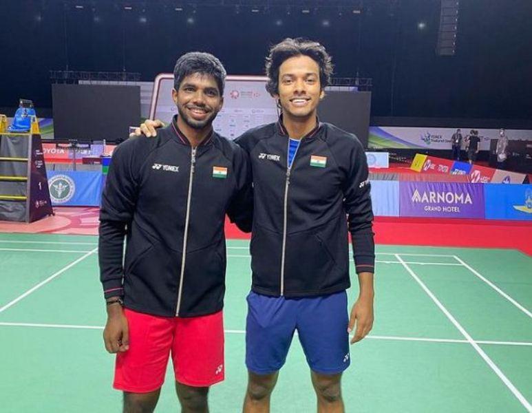 Chirag Shetty with his doubles patner Satwiksairaj