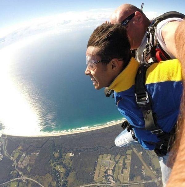 Chirag Shetty doing Skydiving