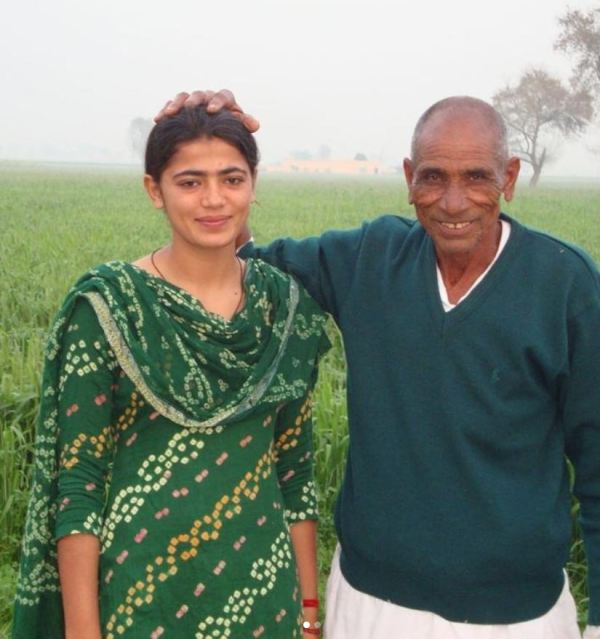 Savita with her grandfather