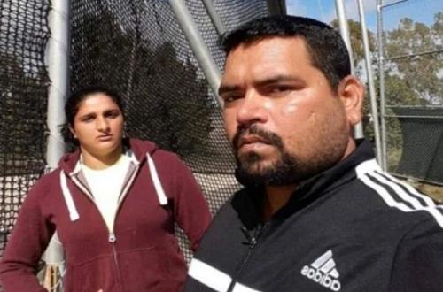 Seema Punia and her husband