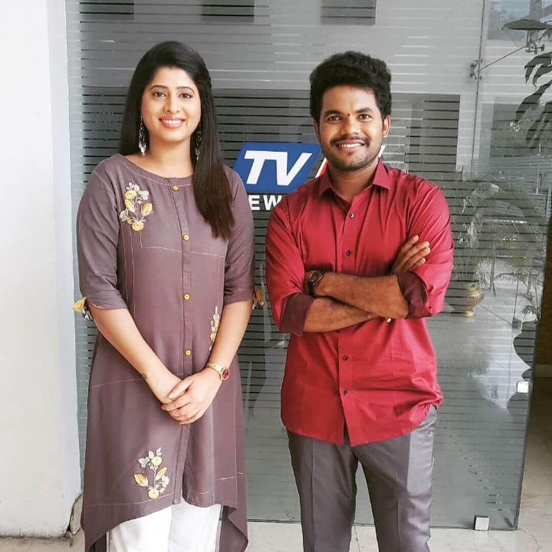 Anil Geela WIth Tv5 Anchor