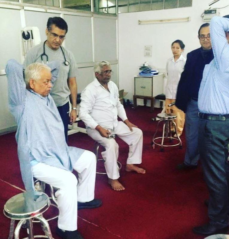 Dr. Hemant Kalra during a Pulmonary Rehabitation Program in Delhi