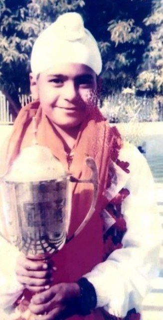A childhood picture of Simranjeet Singh