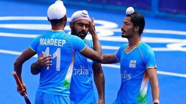 Simranjeet Singh during the 2020 Summer Olympics