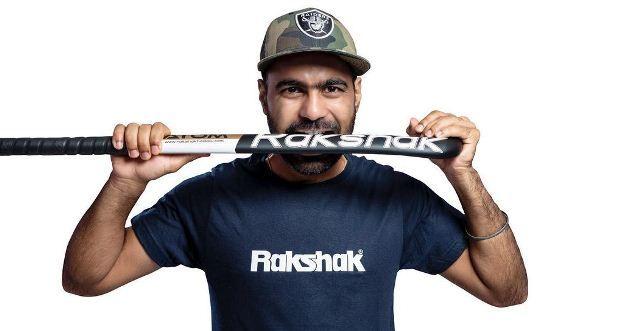 Simranjeet Singh promoting the brand Rakshak Hockey