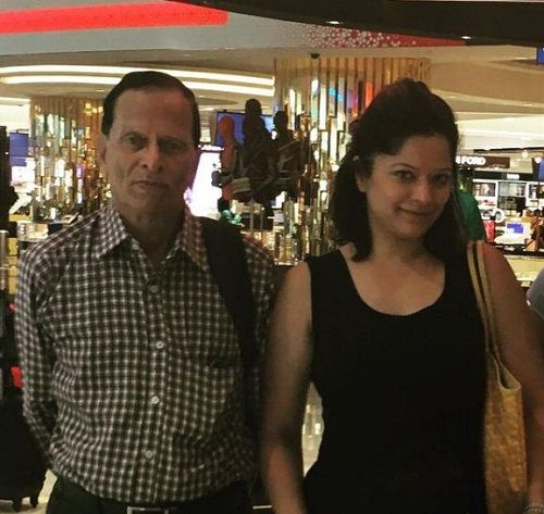 Arzoo Govitrikar with her father