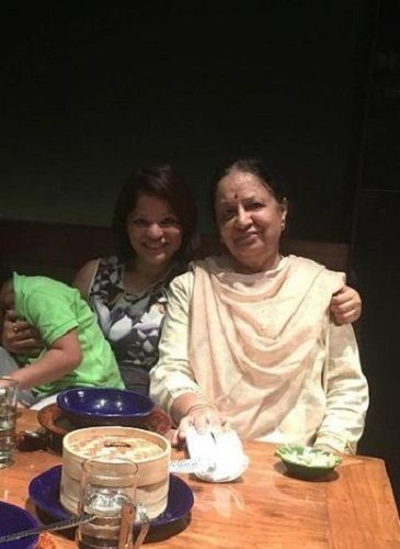 Arzoo Govitrikar with her mother