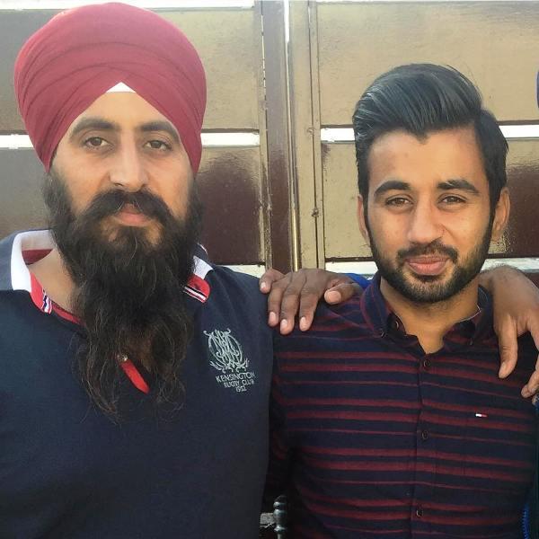 Manpreet Singh with his brother Amandeep Singh