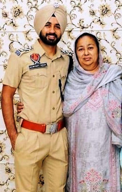 Manpreet Singh in Punjab Police Uniform