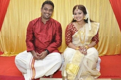 Saranya Sasi and Binu Xavier on their engagement day