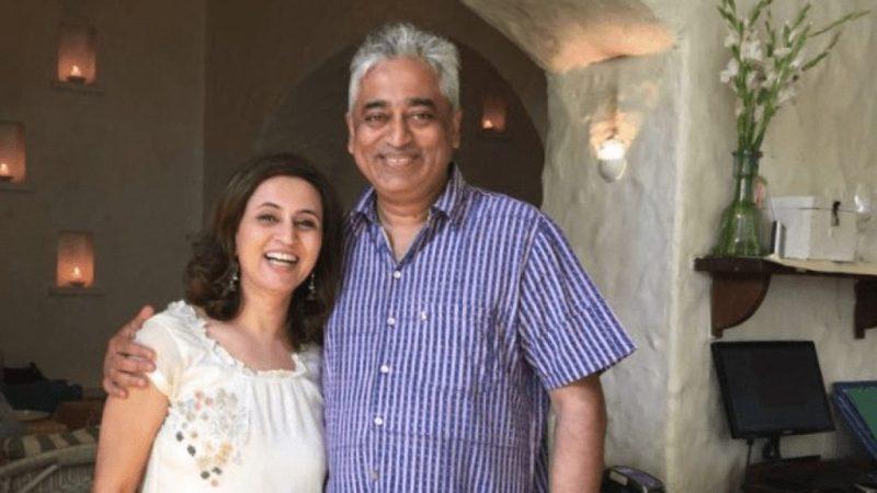 Sagarika with her husband Rajdeep Sardesai