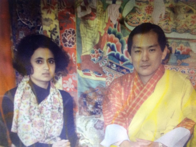 Sagarika Ghose with the former king of Bhutan HE Jigme Singye