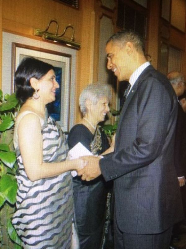Sagarika Ghose's Tweeted picture with Barak Obama