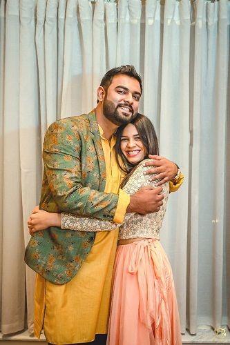 Ayushi Gupta with her brother
