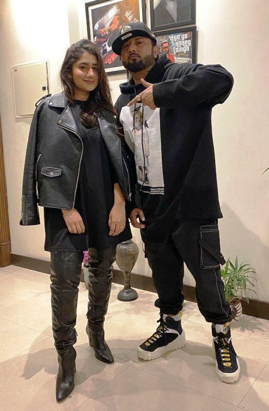 Yo Yo Honey Singh with his sister, Sneha Singh